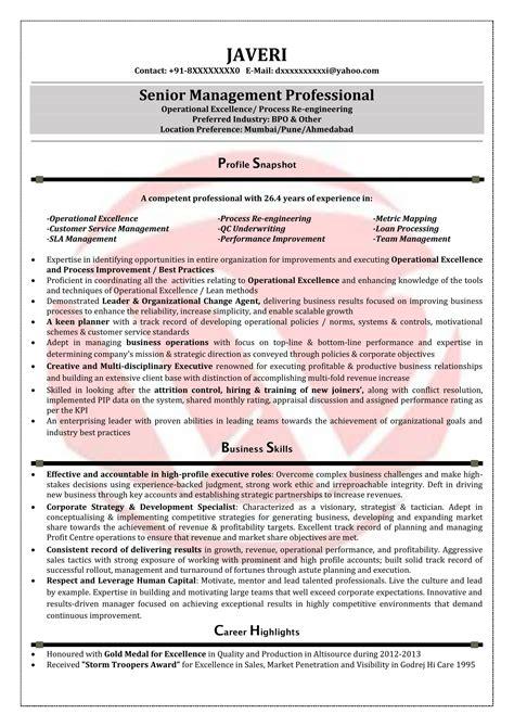 Bpo Resume Doc by Bpo Sle Resumes Resume Format Templates
