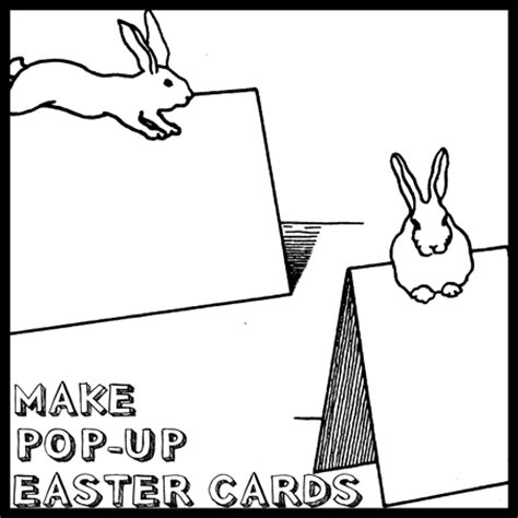 pop up easter card template free easter bunny cards to make