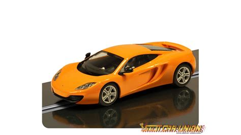 orange mclaren 12c scalextric c3200 mclaren mp4 12c orange slot car union
