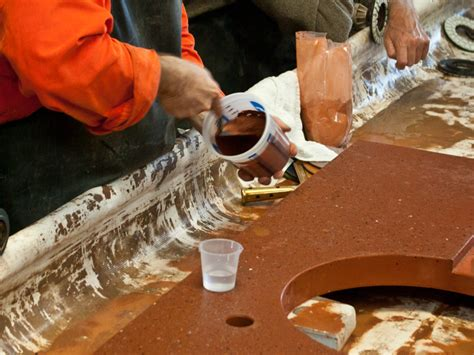 Concrete Countertop Slurry Mix by How To Fill Holes In A Concrete Countertop Cheng