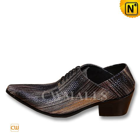 printed oxford shoes cwmalls 174 printed leather lace up dress oxfords cw752243