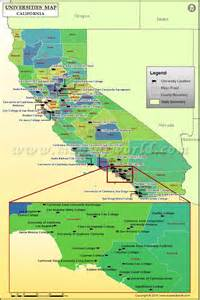 map of universities in california list of colleges and