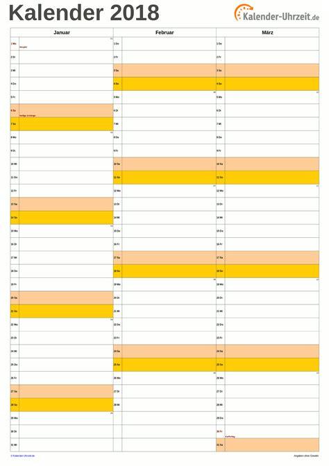 Kalender 2018 Zum Ausdrucken Quartal Kalender 2018 Zum Ausdrucken Kostenlos