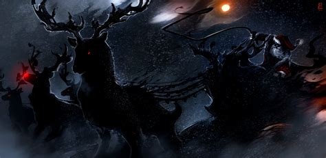 wallpaper dark christmas demon santa midnight raindeer darkness screenshot computer