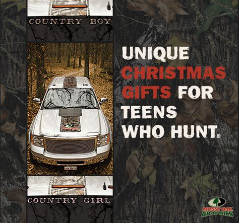 unique christmas gifts for teens who hunt mossy oak graphics