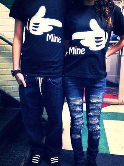 Matching Relationship Shirts T Shirt Mine Print Mickey Mouse Matching Shirts