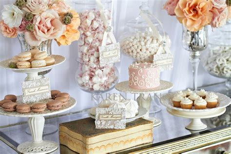 wedding dessert table is sweet dessert and table
