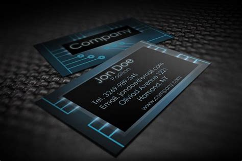 30 Amazing Free Business Card Psd Templates Electronic Card Templates