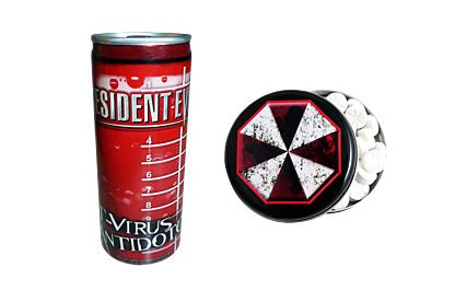 t virus energy drink umbrella corporation promo pack featuring resident evil