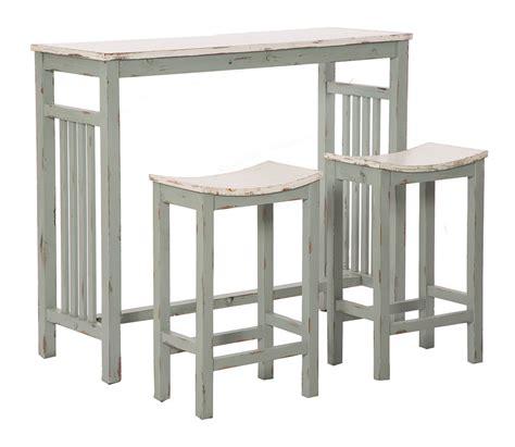 sgabelli legno bar set bar shabby chic con tavolino alto e sgabelli in legno