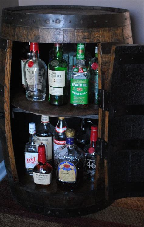 wine barrel liquor cabinet whiskey barrel liquor cabinet with double lazy susans