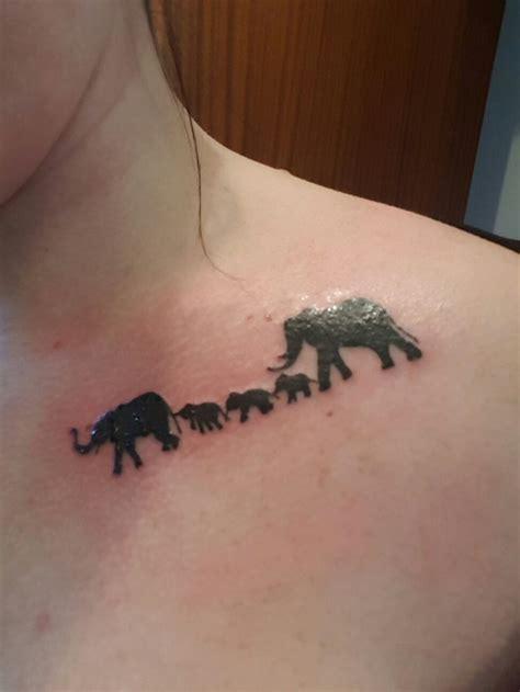 elephant tattoo collar bone best 25 elephant family tattoo ideas on pinterest