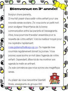 Exemple Lettre De Bienvenue Rentr 233 E La Classe De Rosie