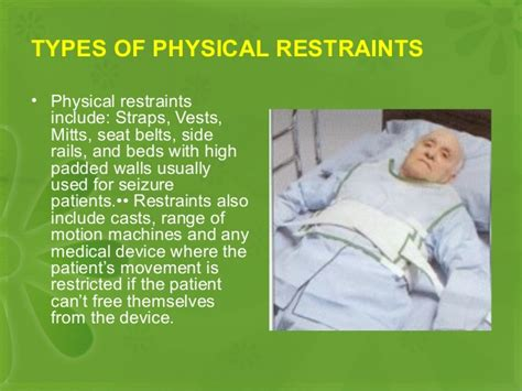 Should Detoxing Patients In Hospitals Be Restrained by Physical And Chemical Restrain
