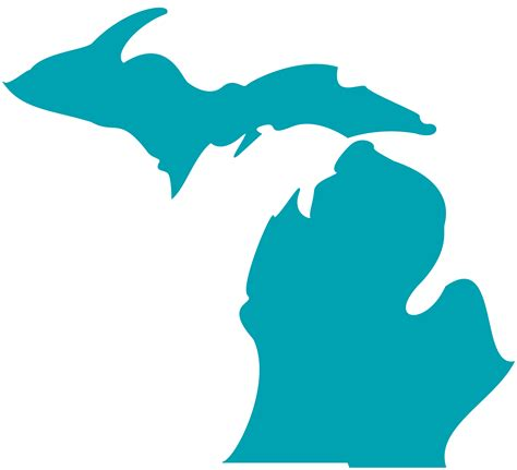 Of Michigan Finder State Of Michigan Outline Clipart Best