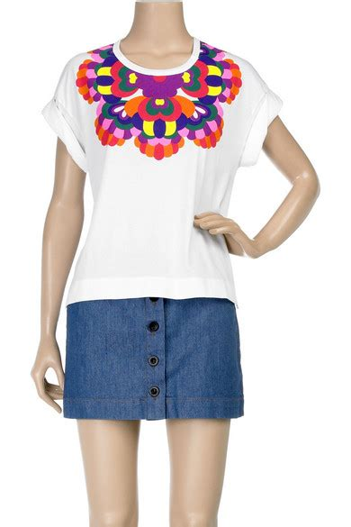 Shopping See By Chlo Printed Collar T Shirt by See By Chlo 233 Printed Collar T Shirt Net A Porter