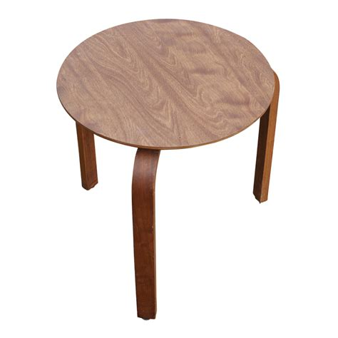 walnut bentwood side table stool ebay