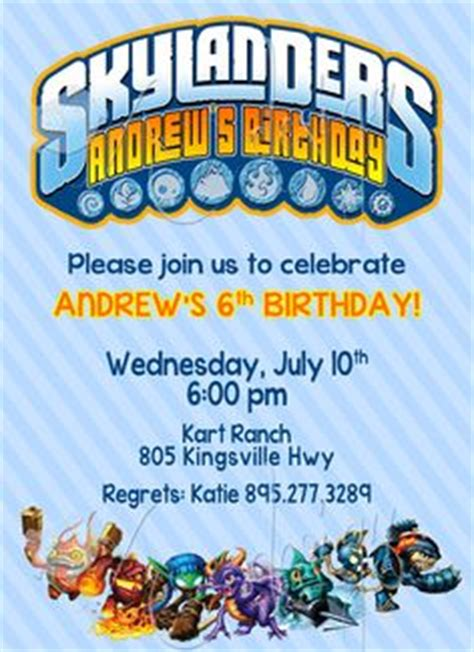 1000 Images About Skylanders On Pinterest Skylanders Party Invitation Templates And Birthday Skylanders Birthday Invitations Template
