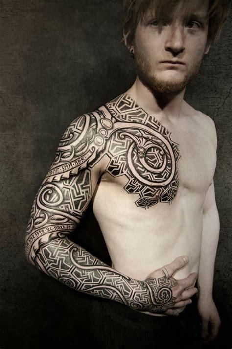 nordic sleeve tattoo designs by walrus madsen vikings the shape