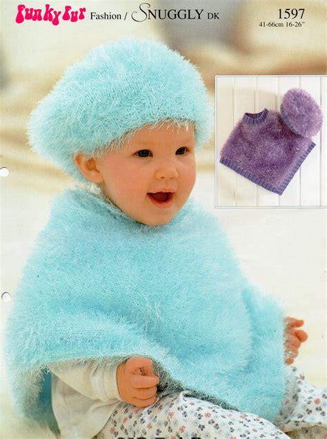 child s poncho knitting pattern baby knitting pattern baby poncho beret baby poncho