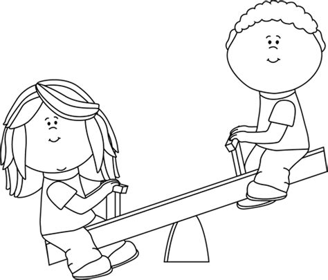 kid clipart black and white clip images