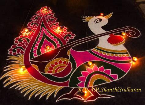 vasant panchami rangoli saraswati pooja rangoli designs