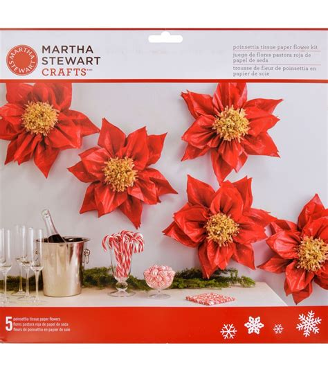 martha stewart crafts holiday lodge tissue paper flower
