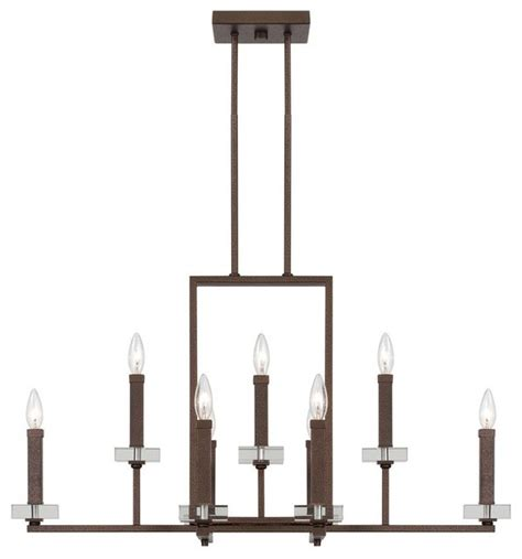 Linear Candle Chandelier Designers Fieldhouse Linear Chandelier In Flemish Bronze Transitional Chandeliers