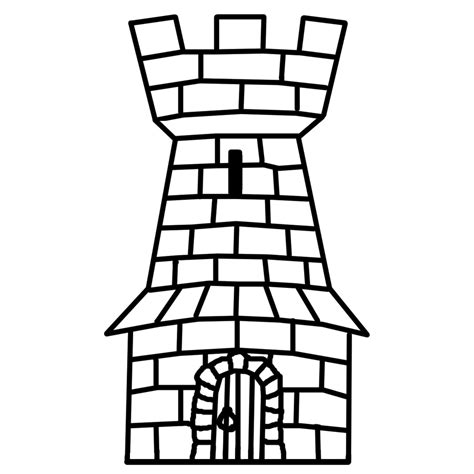 coloring pages castle tower castle clipart castle tower pencil and in color castle
