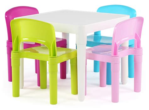 Tot Tutors Table And Chairs by Tot Tutors Plastic Table And 4 Chairs Set Bright Colors