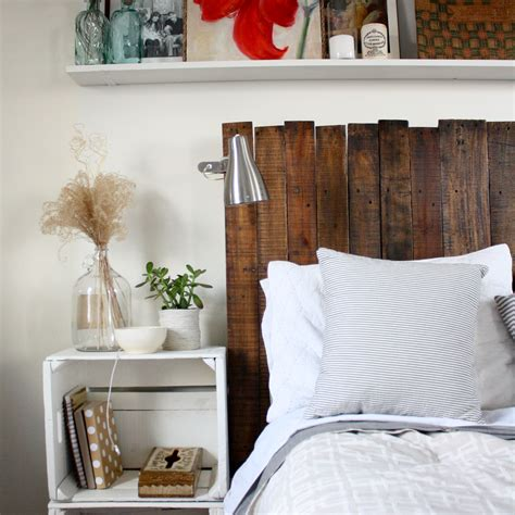 diy headboard 11 easy and budget friendly diy pallet headboards shelterness