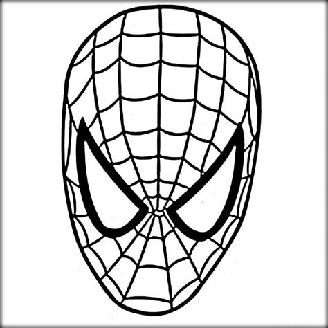 spiderman face coloring page spiderman coloring pages color zini