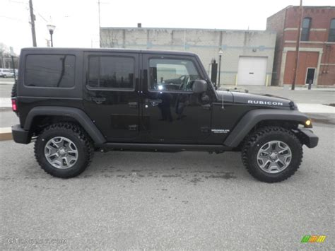 Black Jeep 4x4 Black 2013 Jeep Wrangler Unlimited Rubicon 4x4 Exterior