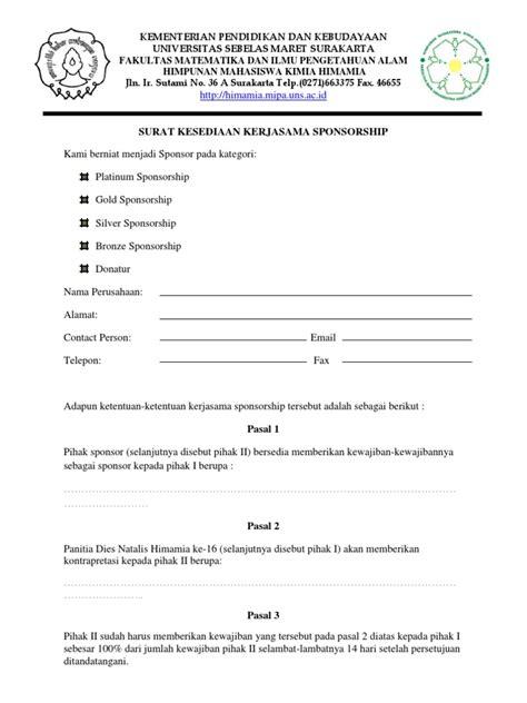 Surat Sponsorship by Surat Sponsorship Dan Donatur
