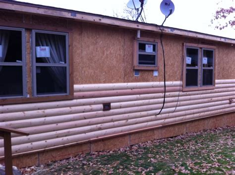 log siding for mobile homes in gorgeous rustic cabin manufactured home remodel