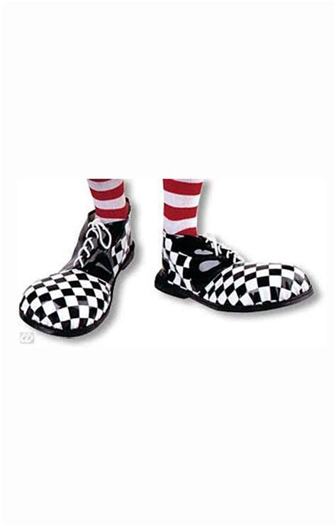 clown shoes checkered black and white clown accessories