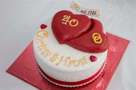 hochzeitstag torte torte zum 40igsten hochzeitstag motivtorten fotos forum