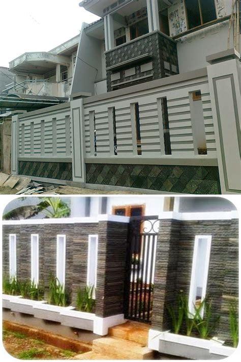 desain pagar rumah minimalis warna putih desain rumah