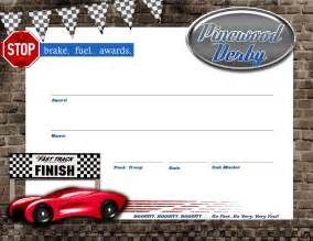 pinewood derby certificate template pin pinewood derby certificate template on