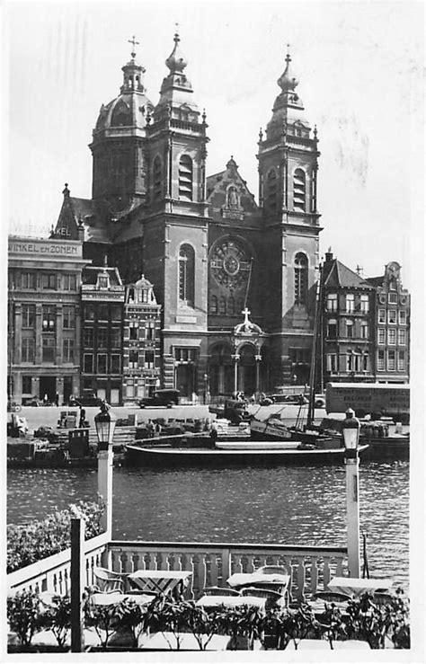 schip kerk amsterdam st nicolaas kerk 1946 binnenvaart schepen schip