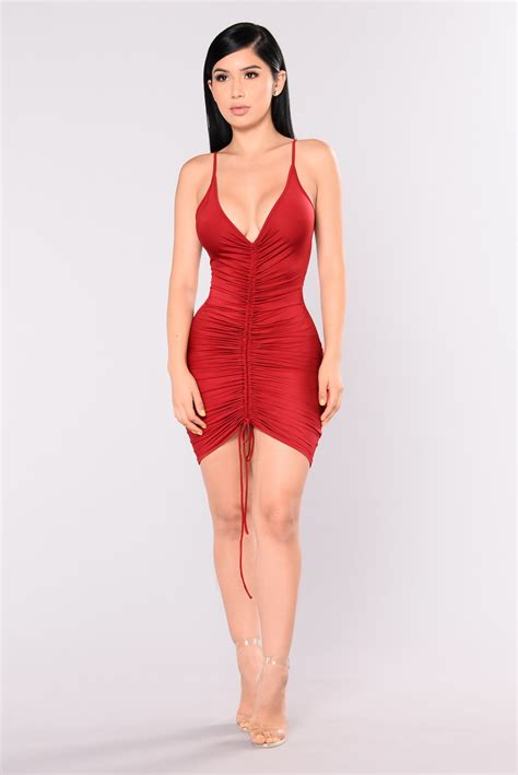 Shanghai Dress shanghai ruched dress burgundy