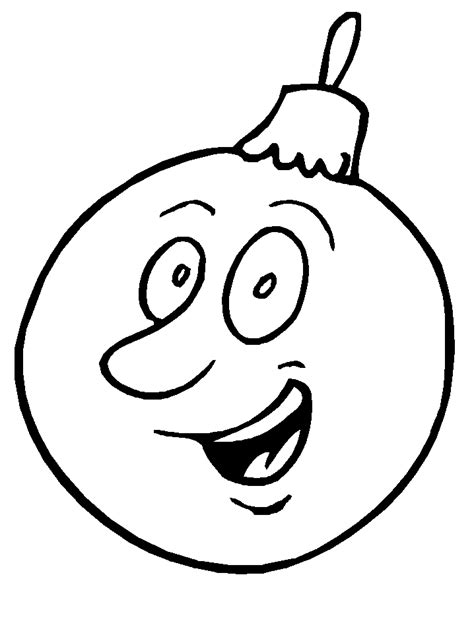 christmas ornaments coloring pages