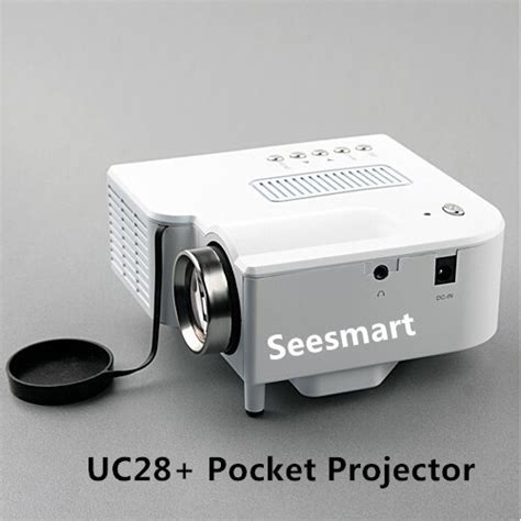 Proyektor Uc28 cheap mini projector uc28 home theater 1080p 320 240pixels led portable projector high