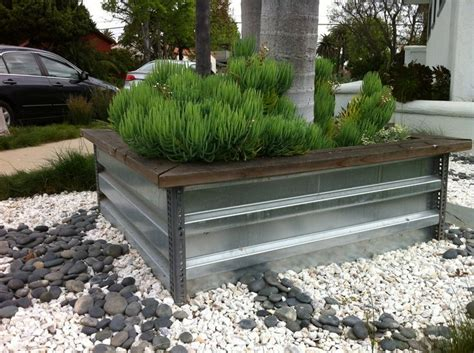 Cool Planter Boxes by Cool Stainless Steel And Angle Iron Planter Box Spaces