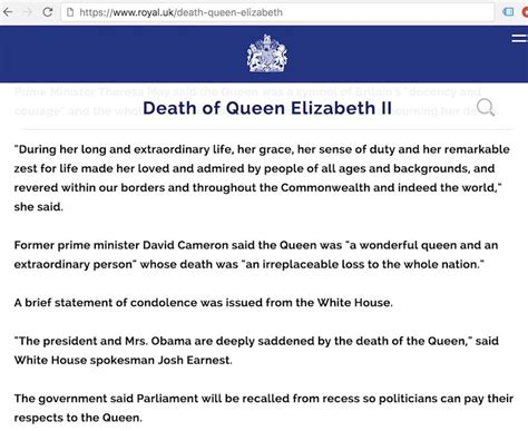 elizabeth died buckingham palace retract elizabeth announcement