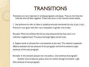 transition words for expository essays expository essay sophomore essay 1 ppt