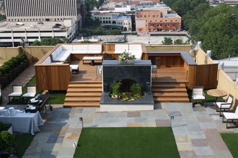Simple 3 Bedroom House Plans penthouse rooftop garden contemporary deck other