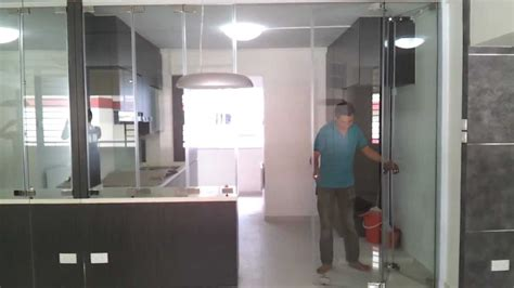 Kitchen Design For Hdb by Frameless Door System Open Demo Video Singapore Serangoon