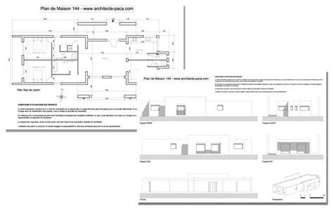Plan De Maison Moderne Toit Plat Villad Architecte 144