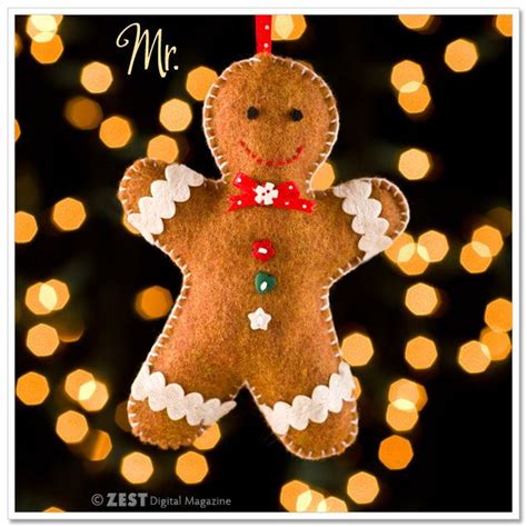 diy felt gingerbread ornaments free pattern there s a